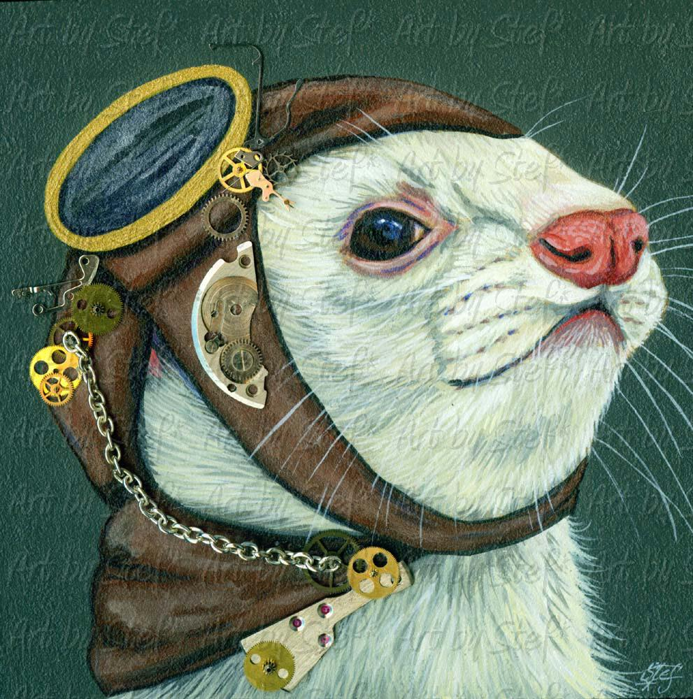 Collectables; A Clockwork Ferret; Steampunk Art; Stef