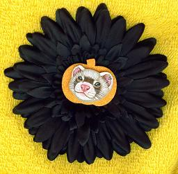 Collectables; Autumn Clip On Black Flower; Clip On Rosette; Stef