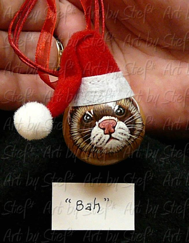 Collectables; 'Bah' Ornament; Handpainted Gourd; Stef