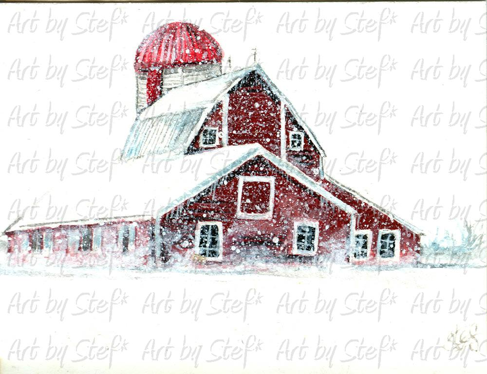 Rustic; Barn Storm; ACEO; Stef