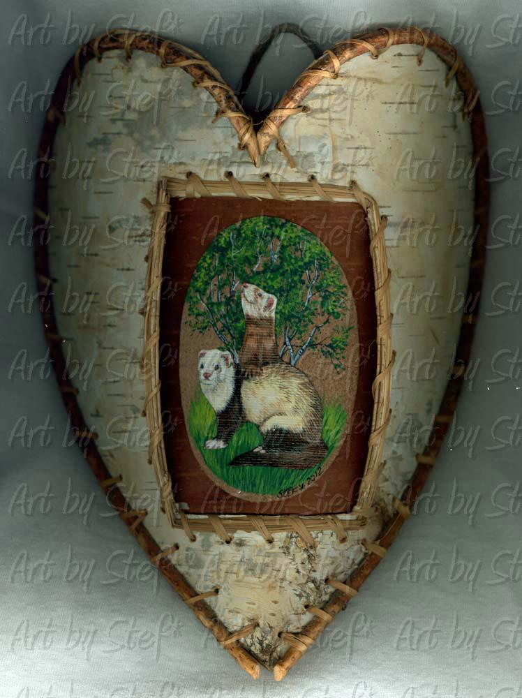 Collectables; Birch Heart Ferrets; Natural Primitive; Stef