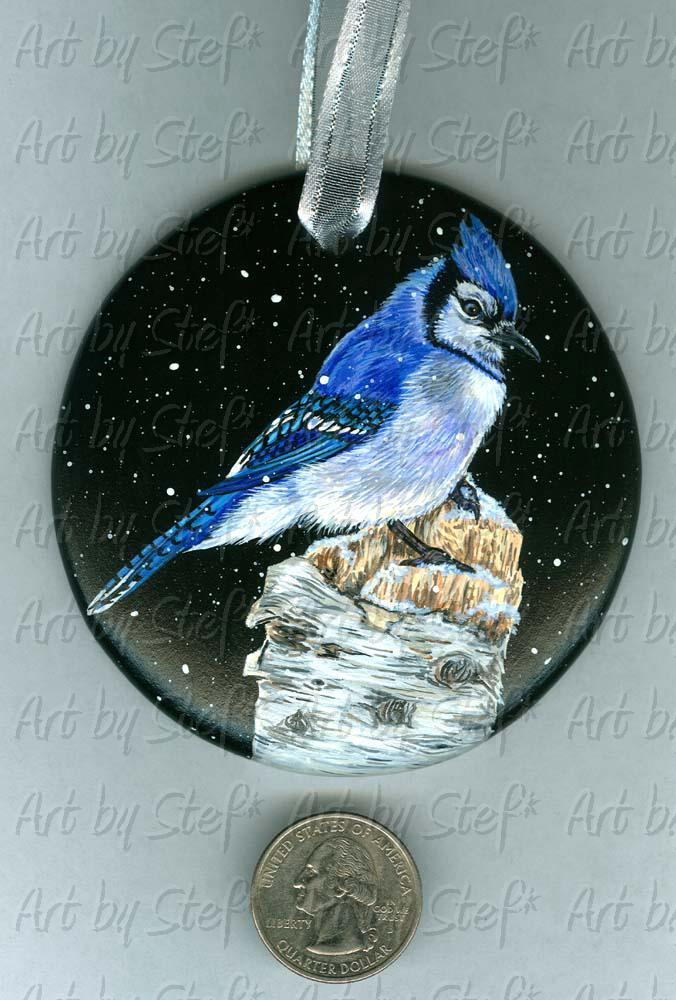 Collectables; Birch Perch; Handpainted Ceramic Ornament; Stef