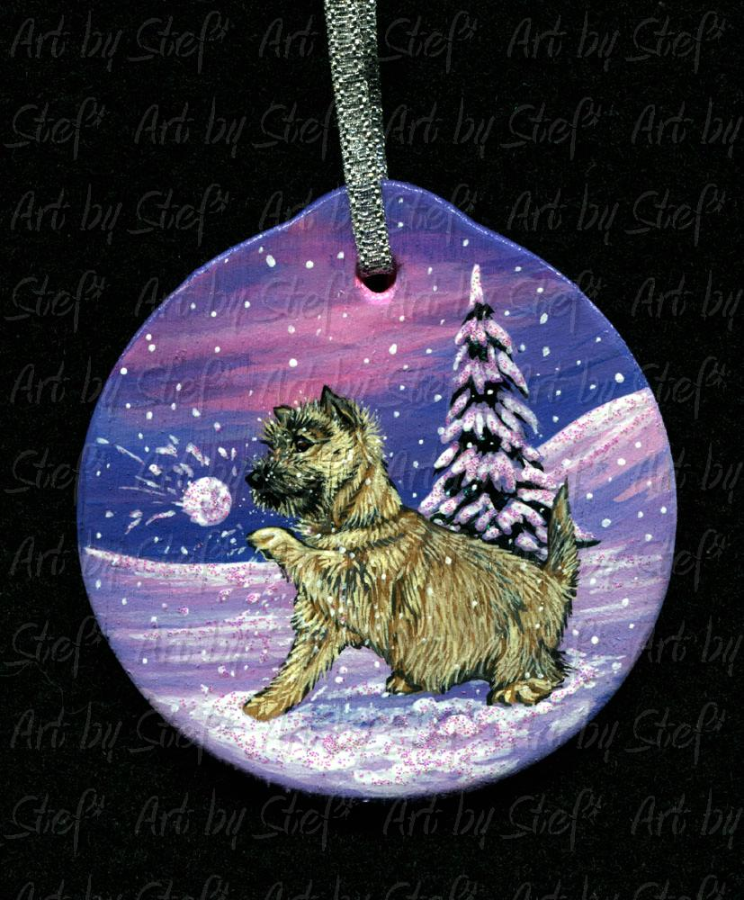 Collectables; Cairn Snowball Ornament; Wood ornament; Stef