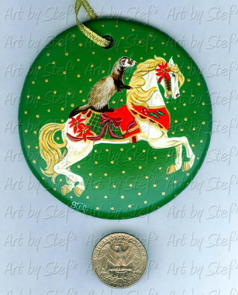 Collectables; Christmas Carousel Ride; Handpainted Ornament; Stef