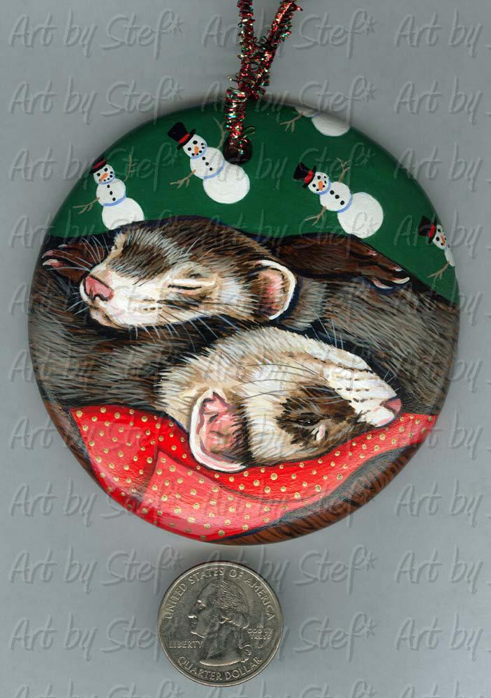 Collectables; Christmas Wrapping; Handpainted Ceramic Ornament; Stef