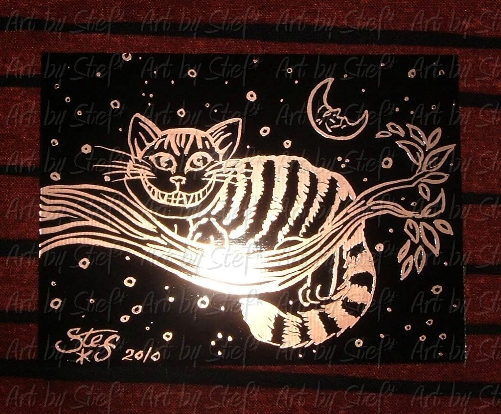 Other Animals; Copper Cat; Etched copper on fiberglass composite, sealed; Stef