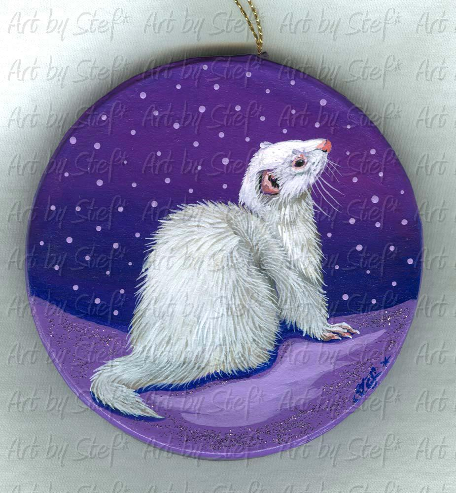 ferrets in the snow