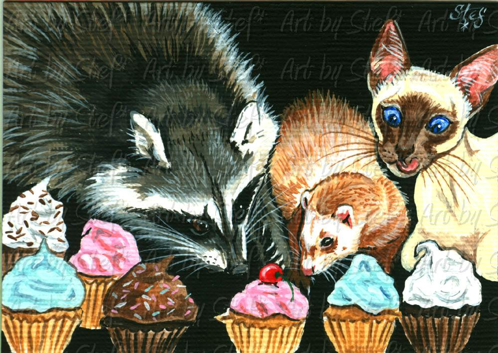Other Animals; Dibs on Cherry; ACEO; Stef