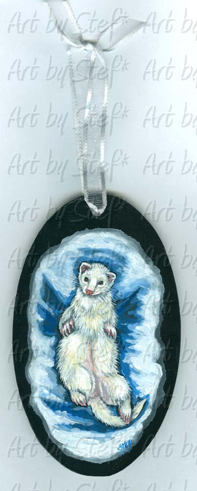 Ferrets; Earth Angel; Earth Angel Painting/Ornament; Stef