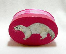 Collectables; Ferret Gift Box; Handpainted Paper Mache Box; Stef