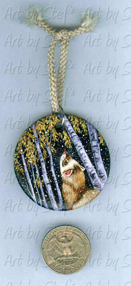 Collectables; First Snowfall Pendant Ornament; Handpainted Ceramic Pendant; Stef