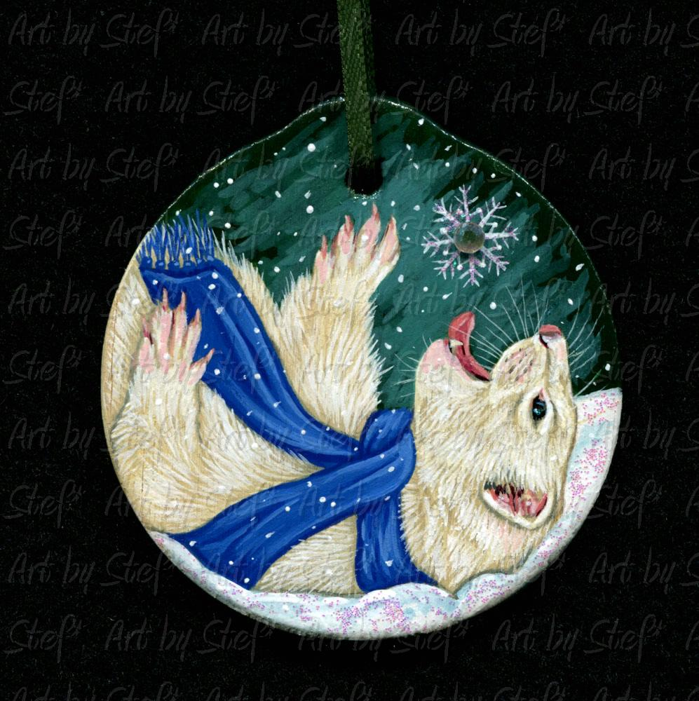 Collectables; Flakee Ferret Ornament; Wood ornament; Stef