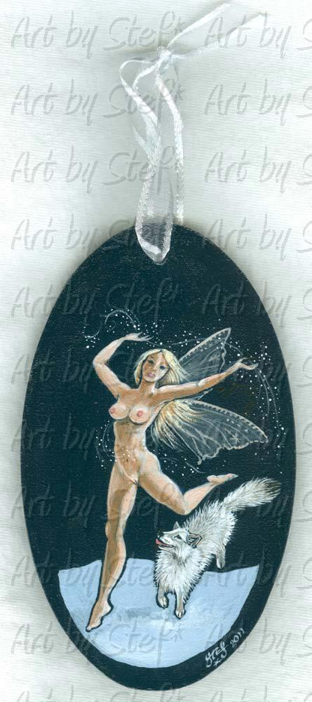 People; Frost Fairy; Fantasy Nude on Masonite; Stef
