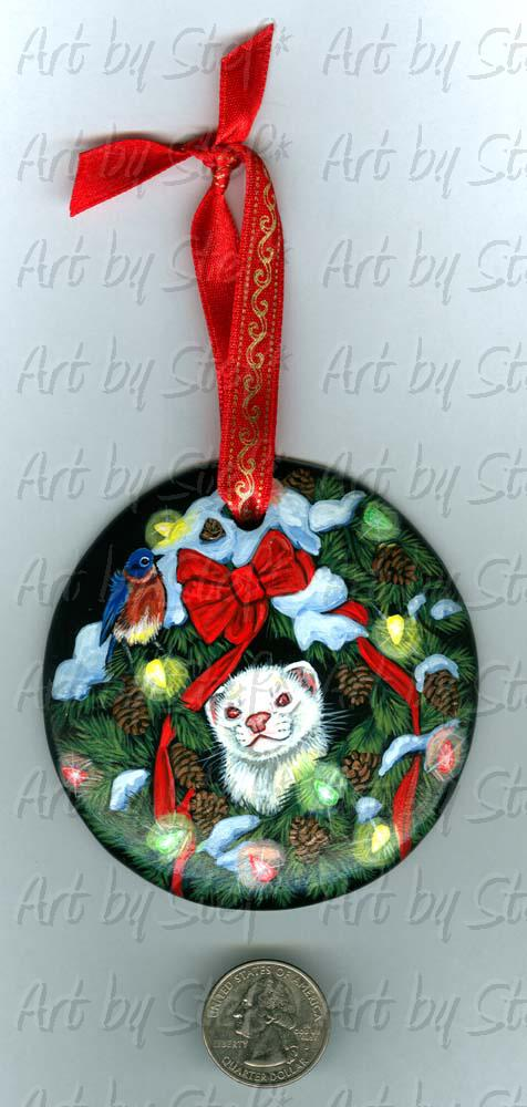 Collectables; Happiness Wreath; Handpainted Ceramic Ornament; Stef