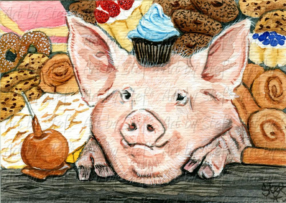 Other Animals; Hog Heaven; ACEO; Stef