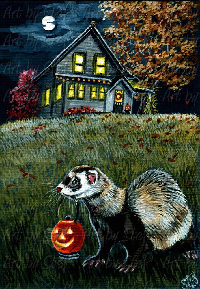Rustic; House On Weasel Hill; ACEO; Stef