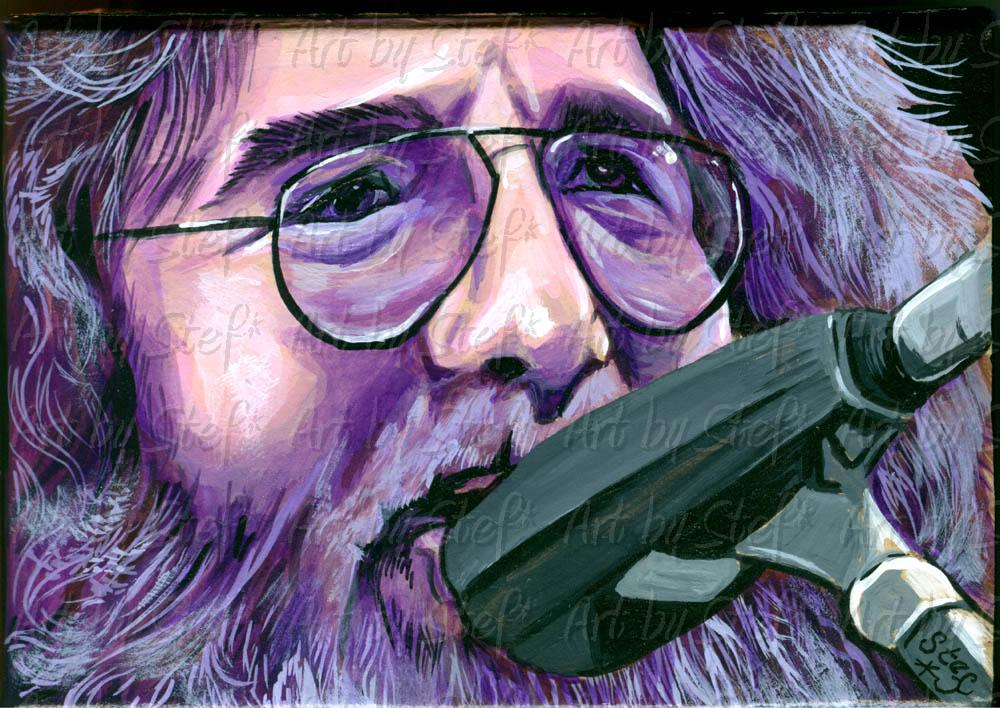 People; Jerry Garcia; Acrylic on paper-mache box; Stef