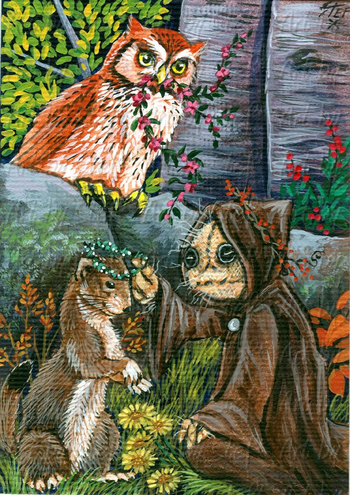 Whimsical; Knotty Weaves Garlands; ACEO; Stef