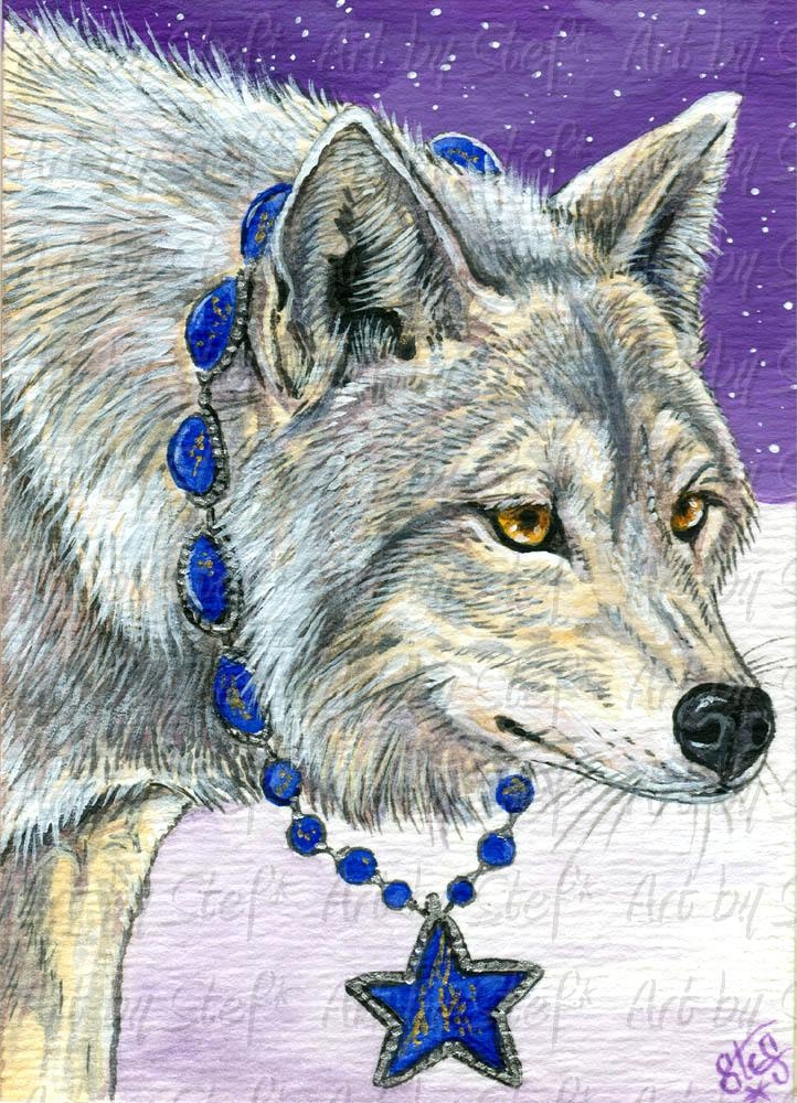 Other Animals; Lapis Lazuli Canis Lupus; ACEO; Stef