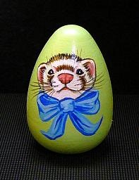 Collectables; Light Green Mini Egg; Pysanky Egg; Stef