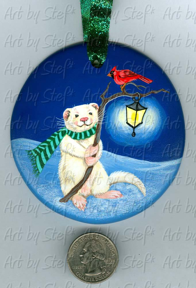 Collectables; Lighting the Way; Handpainted Ceramic Ornament; Stef