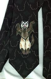 Collectables; Lost Boys Ferret Tie; Handpainted Silk Tie; Stef