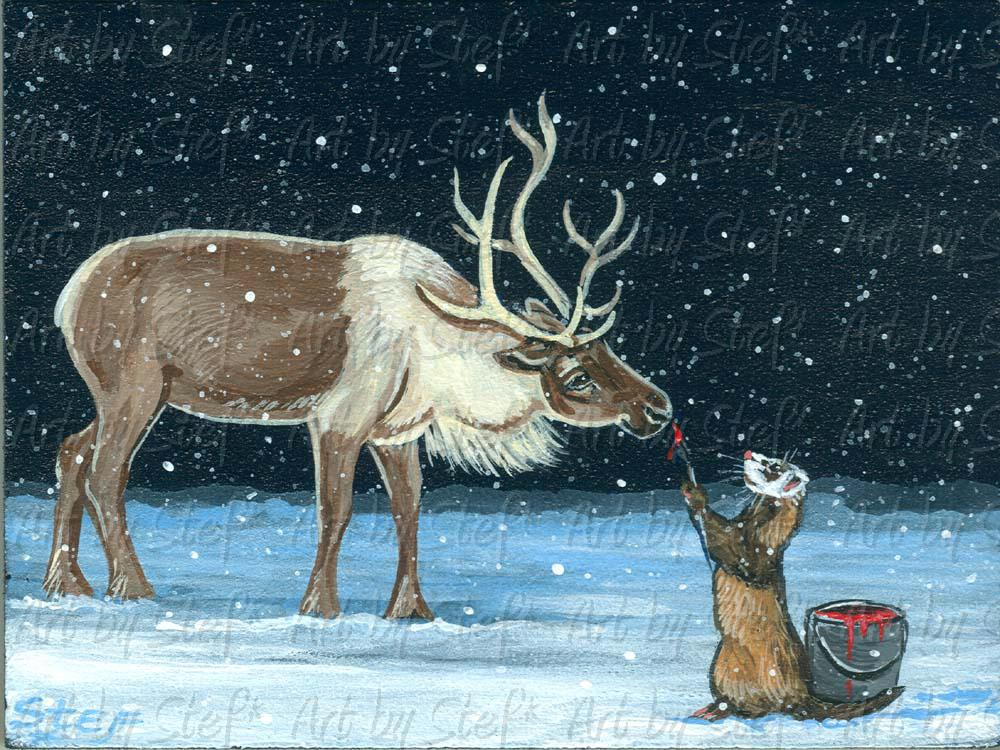 Whimsical; Making Rudolph; ; Stef