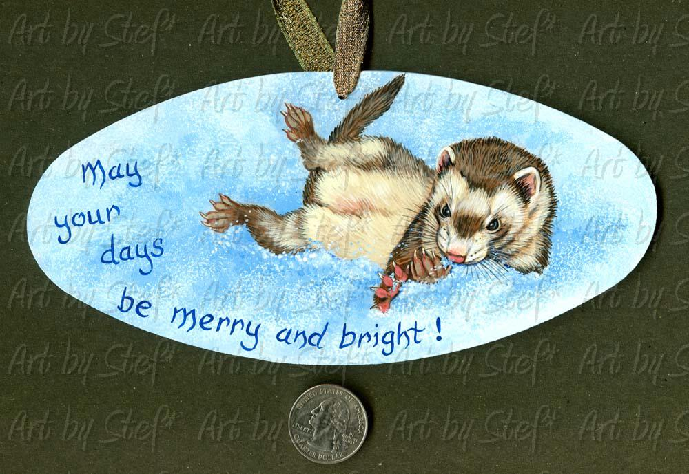 Collectables; May Your Days Be Merry and Bright!; Handpainted Masonite Sign; Stef