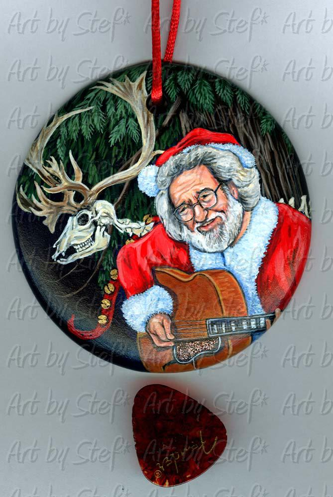 People; Merry Garcia; Handpainted Ceramic Ornament; Stef