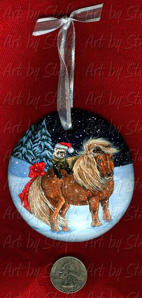 Collectables; Merry Little Christmas; Handpainted Ceramic Ornament; Stef