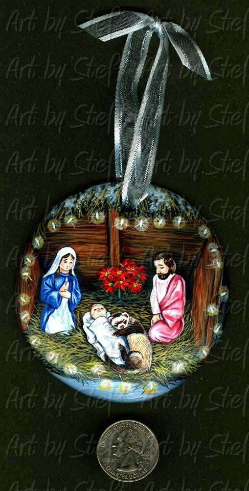 Collectables; Nativity Nap; Handpainted Ceramic Ornament; Stef