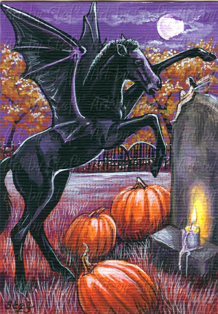 Whimsical; Night Mare Foal; ACEO; Stef