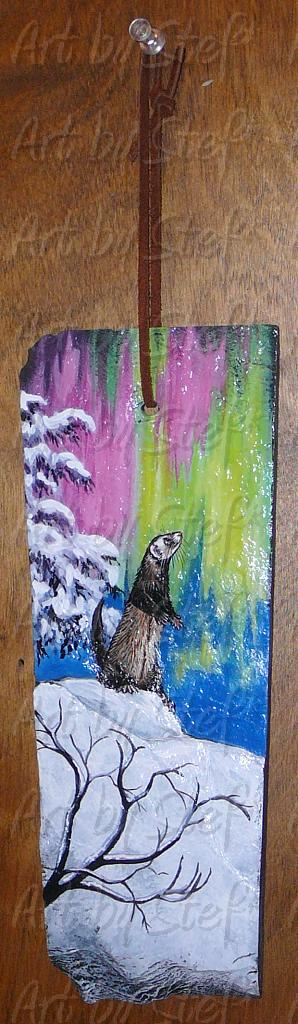 Collectables; Northern Ferret; Handpainted Slate; Stef