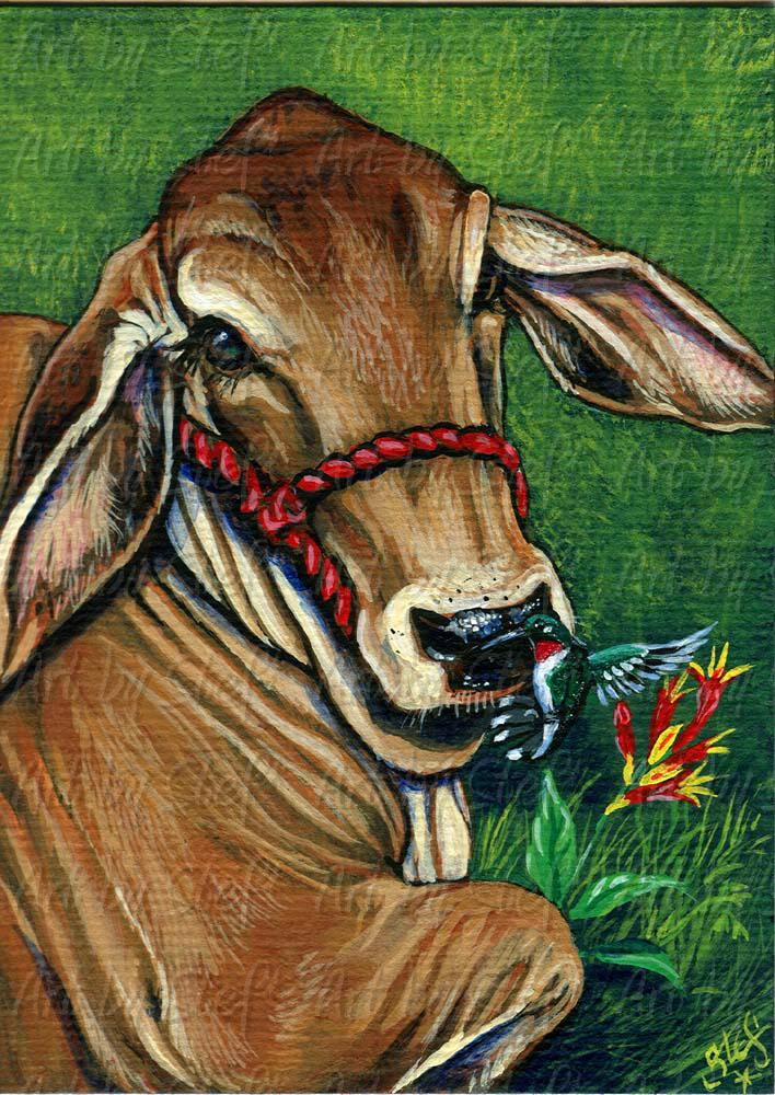Other Animals; Nosegay; Acrylic ACEO; Stef