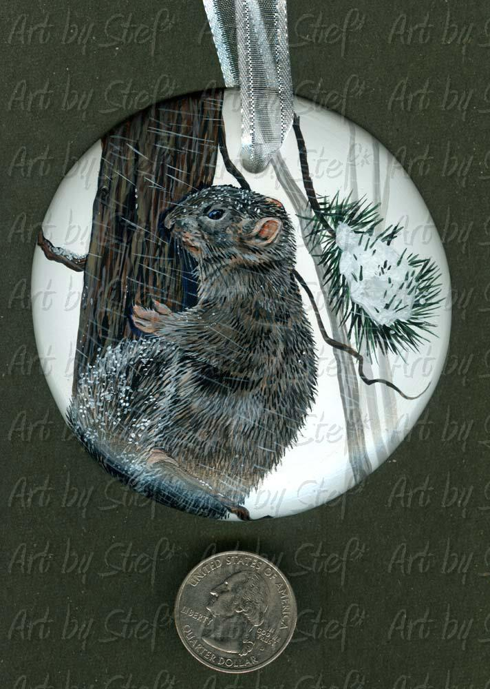 Collectables; Nutty Its Cold Outside; Handpainted Ceramic Ornament; Stef