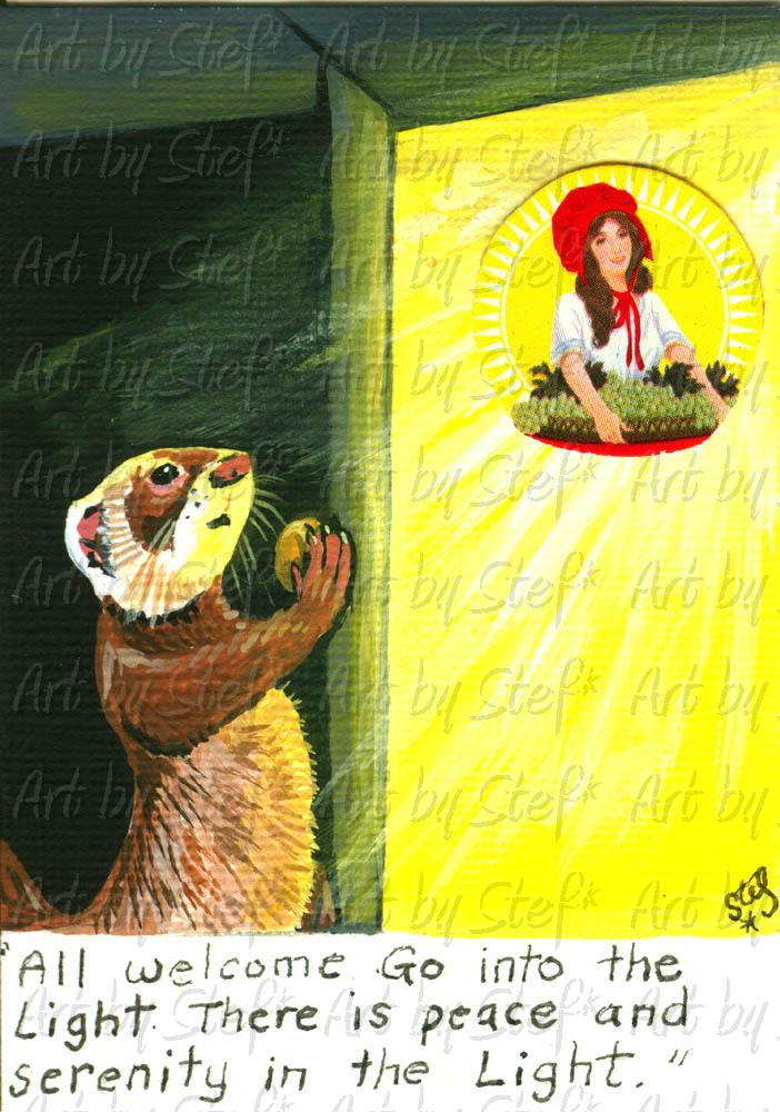 Ferrets; Poltergist Ferret; ACEO; Stef