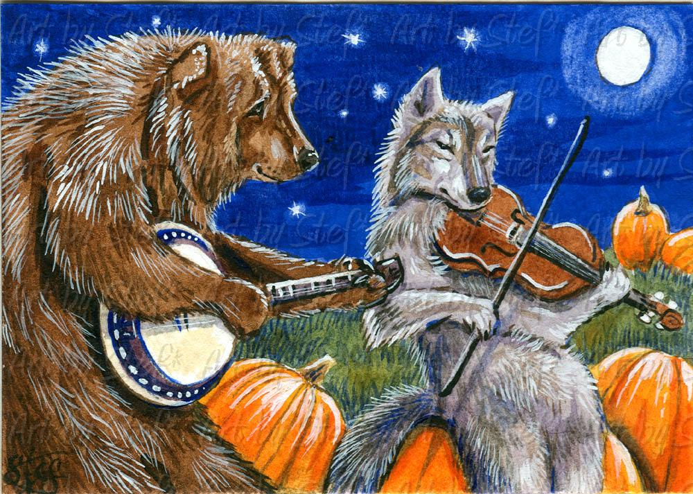 Whimsical; Pumpkin Patch Jam; ACEO; Stef