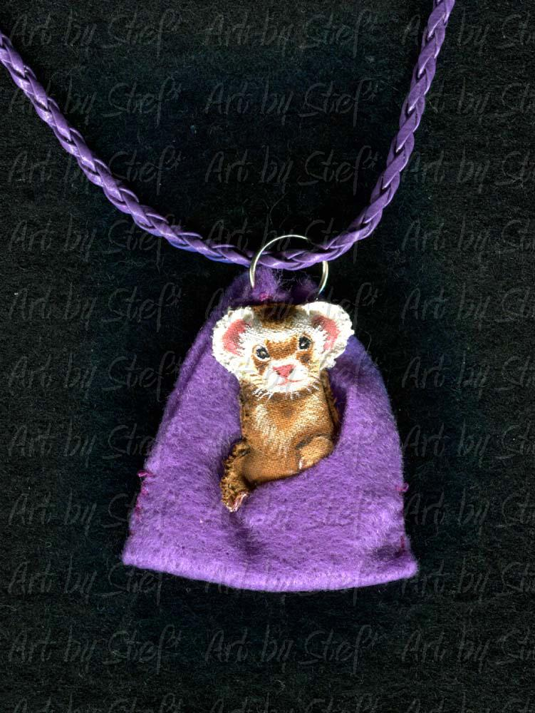 Collectables; Purple Hammy; Handcrafted Soft Sculpture; Stef