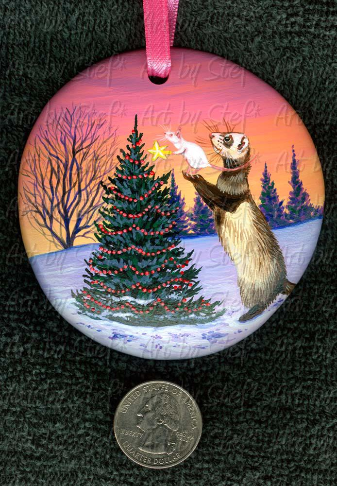 Collectables; Rising Star; Handpainted Ceramic Ornament; Stef