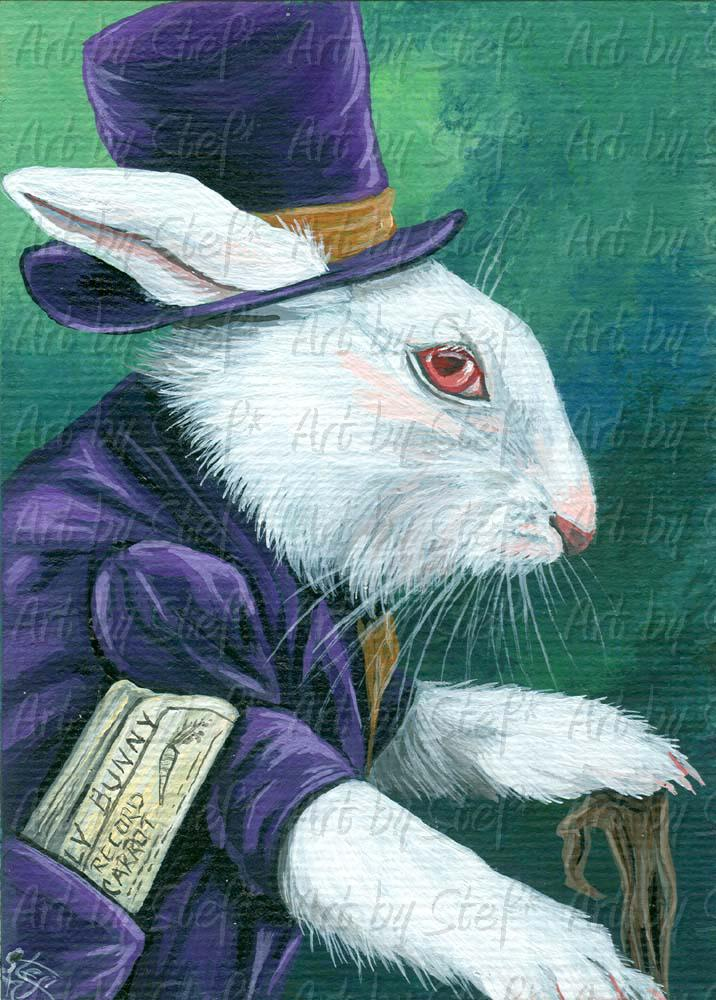 Whimsical; Sharp Dressed Bun; ACEO; Stef