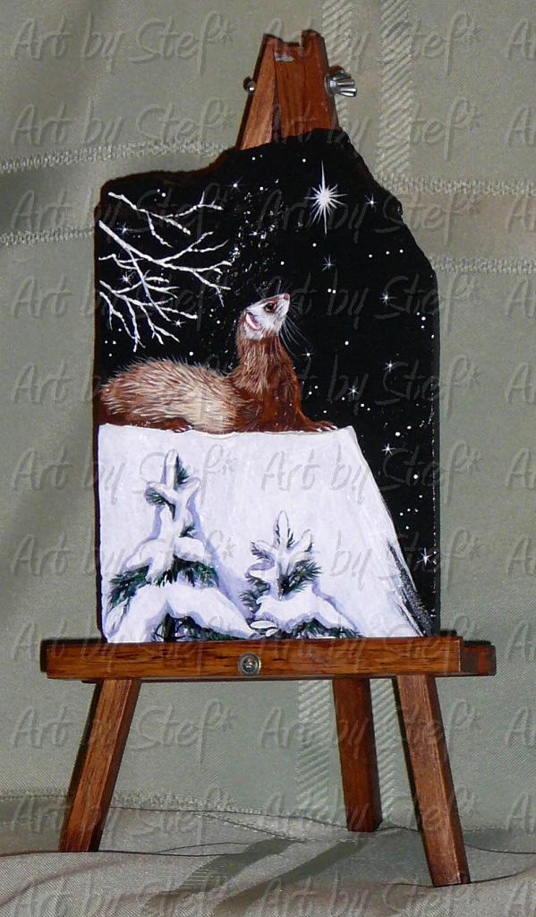 Collectables; Silent Night; Handpainted Slate; Stef