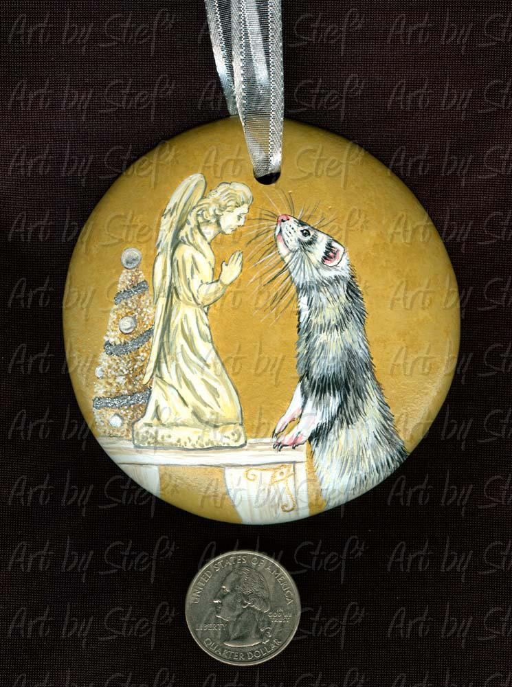 Collectables; Silver and Gold; Handpainted Ceramic Ornament; Stef