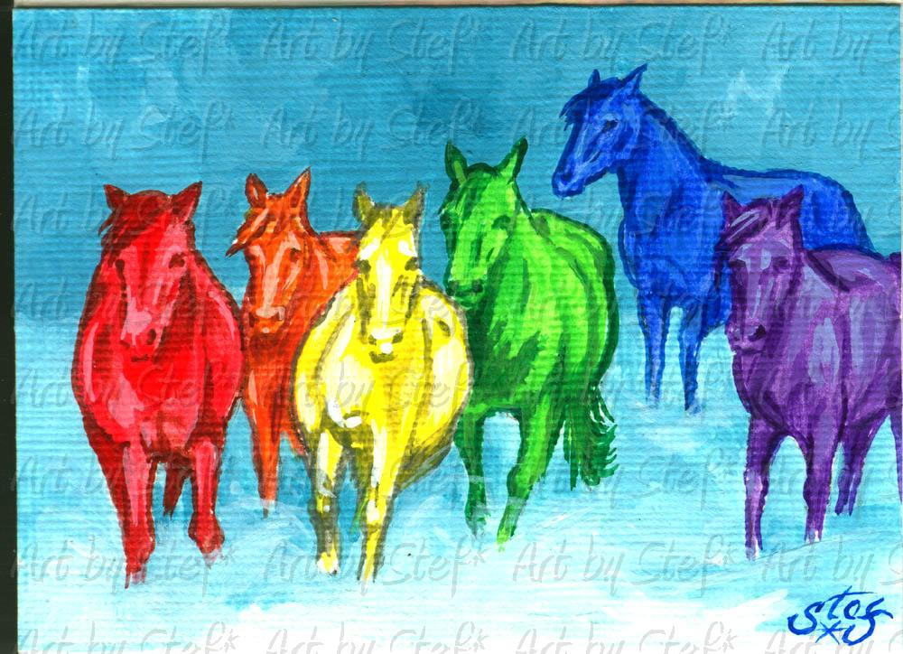 Other Animals; Skittles Horses; ACEO; Stef