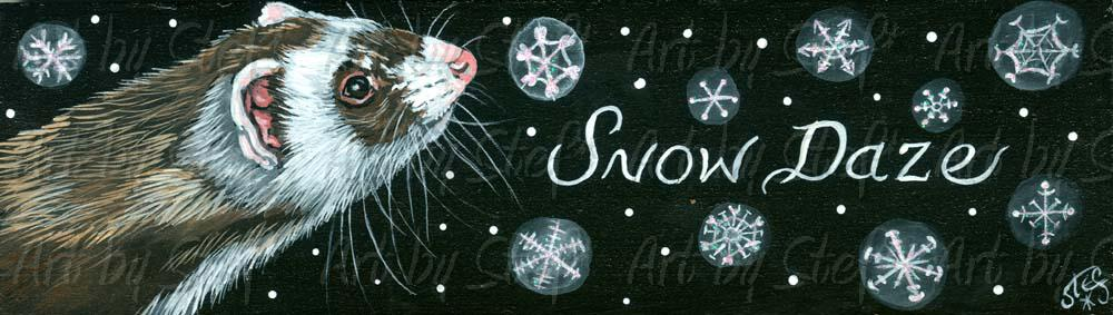 Whimsical; SNOW DAZE; Whimsical Folk Painting; Stef