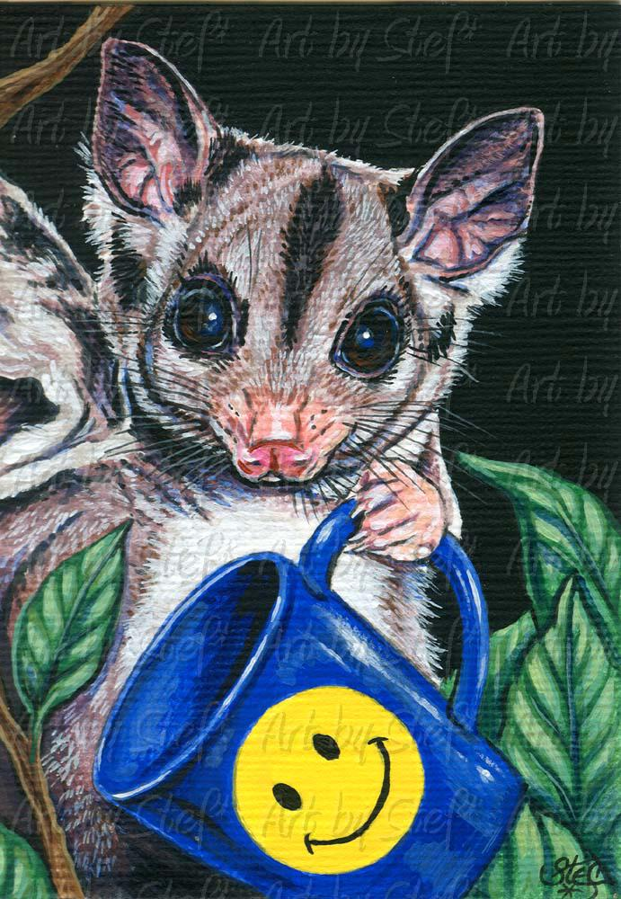 Other Animals; Spare A Cuppa Sugar; Acrylic ACEO; Stef