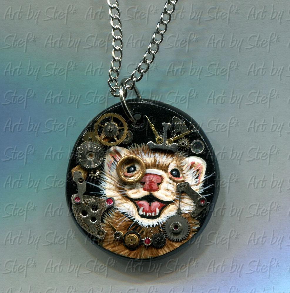 Collectables; Steampunk Pendant B; Mixed Medium Pendant; Stef