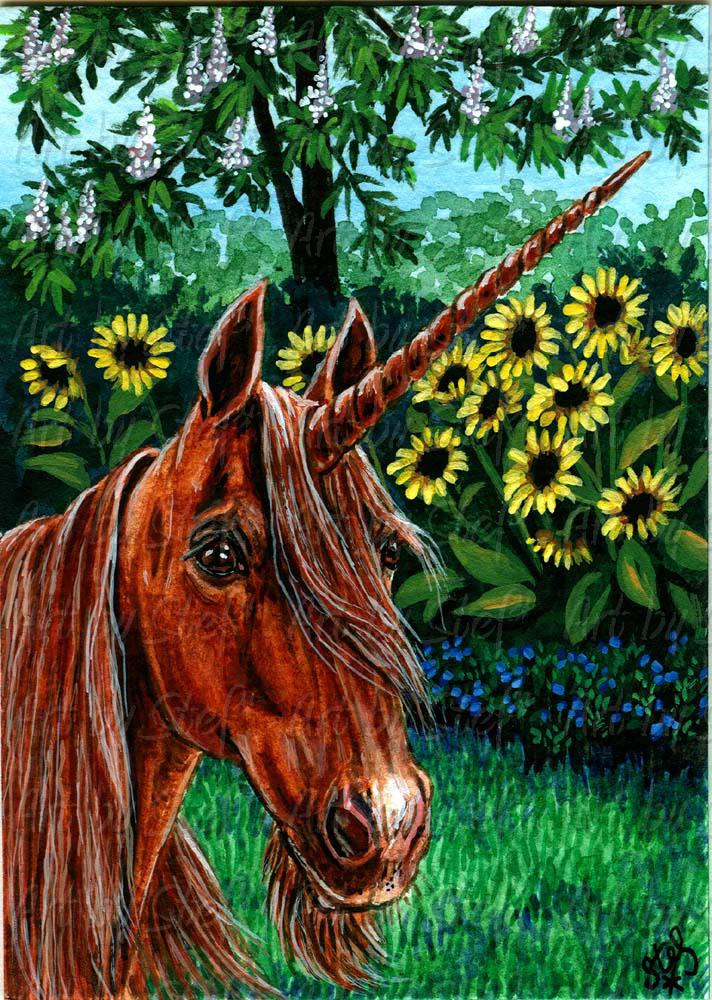 Whimsical; The Horse Chestnut; ACEO; Stef