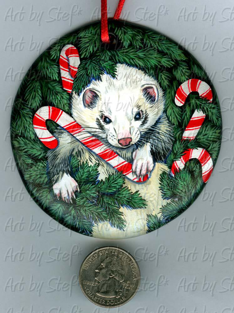 Collectables; The King of Candy Canes; Handpainted Ceramic Ornament; Stef