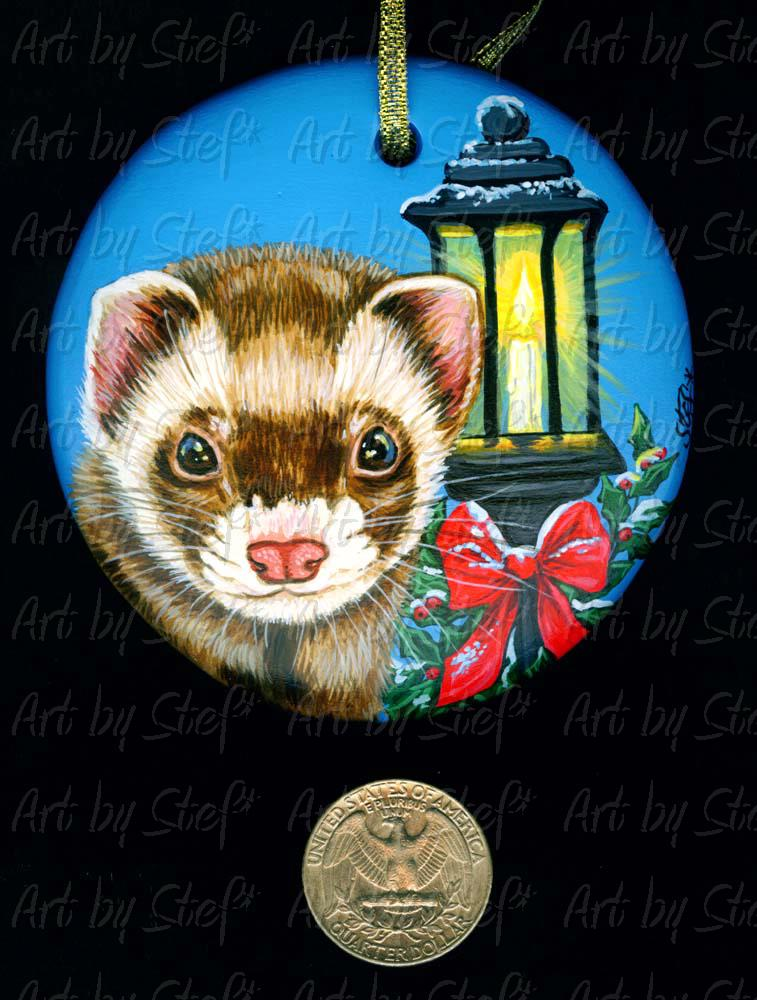 Collectables; The Lamplighter; Handpainted Ornament; Stef