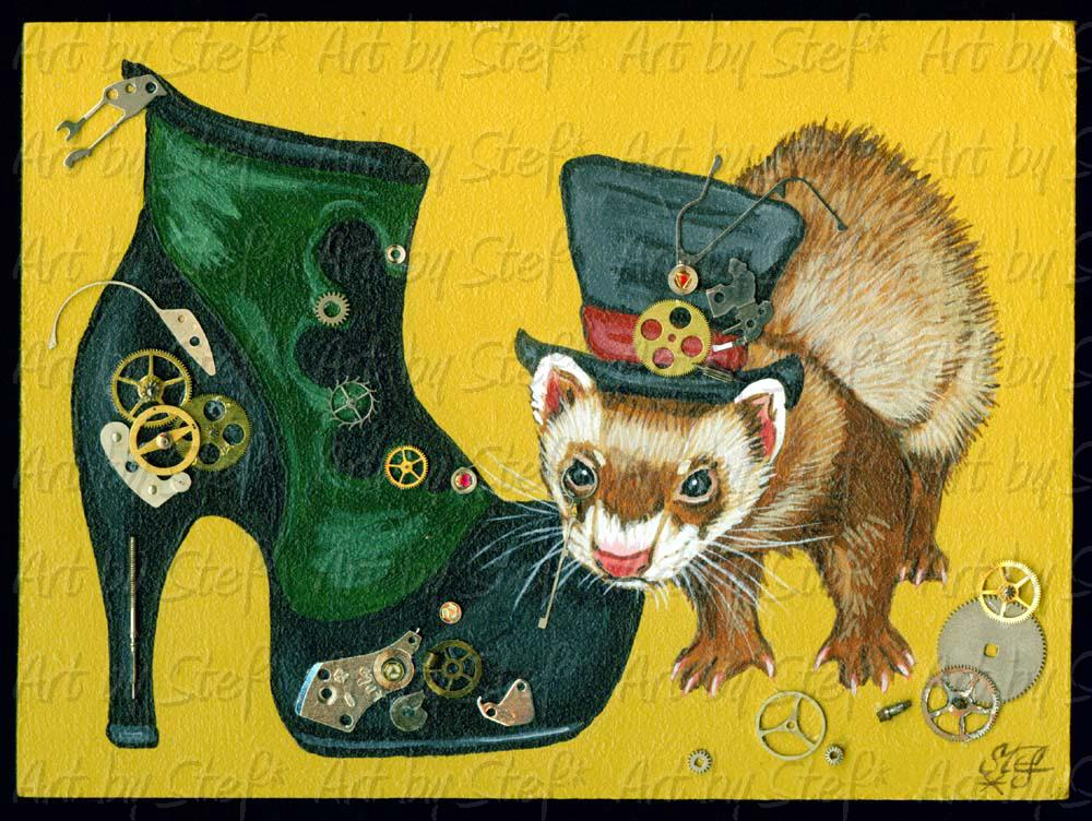 Collectables; The Steampunk Shoe; Steampunk Art; Stef